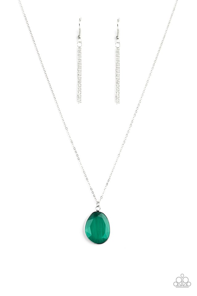 Icy Opalescence - Green - Paparazzi Necklace Image
