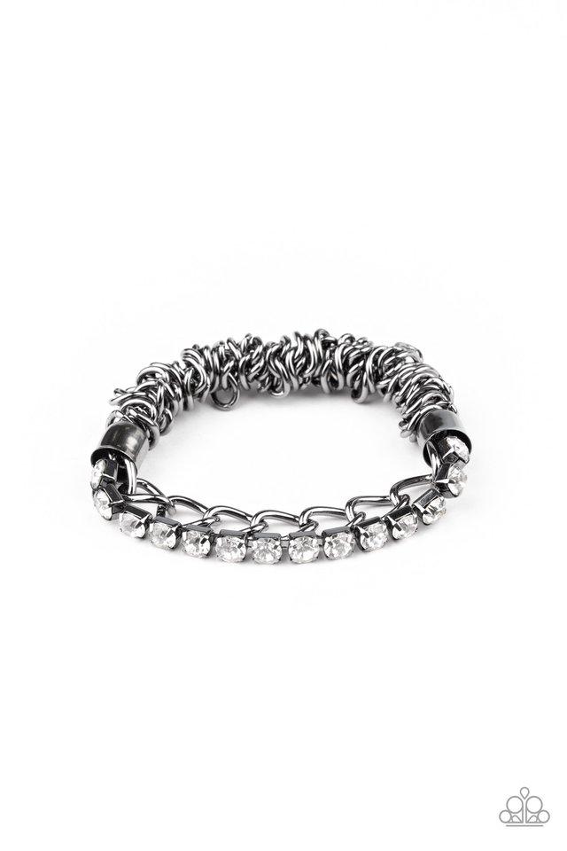 Glamour Grid  - Black - Paparazzi Bracelet Image