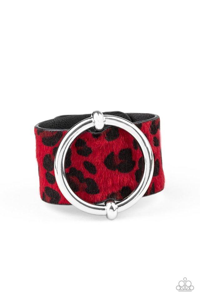 Asking FUR Trouble - Red - Paparazzi Bracelet Image