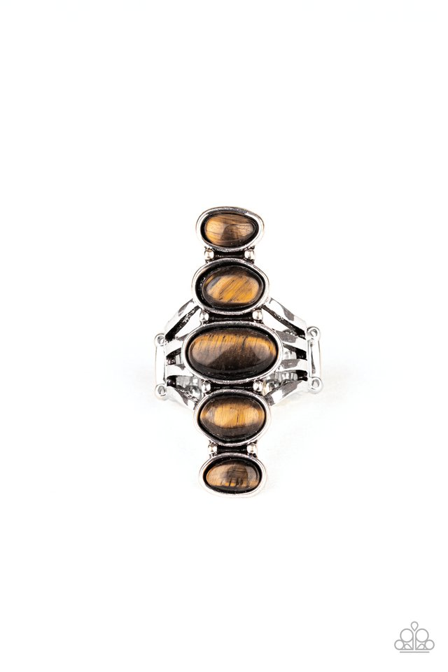 Stone Sublime - Brown - Paparazzi Ring Image