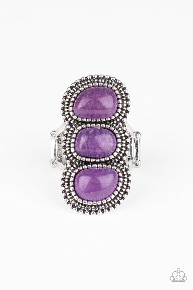 Radiant Rubble - Purple - Paparazzi Ring Image