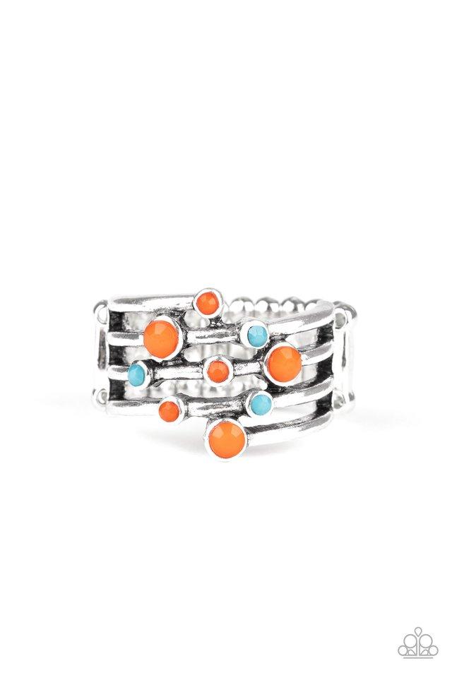 Saguaro Skies - Orange - Paparazzi Ring Image