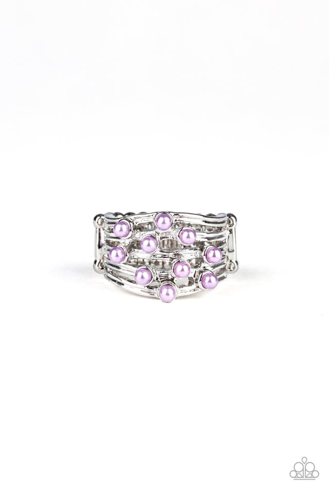 Bubbles and Baubles - Purple - Paparazzi Ring Image