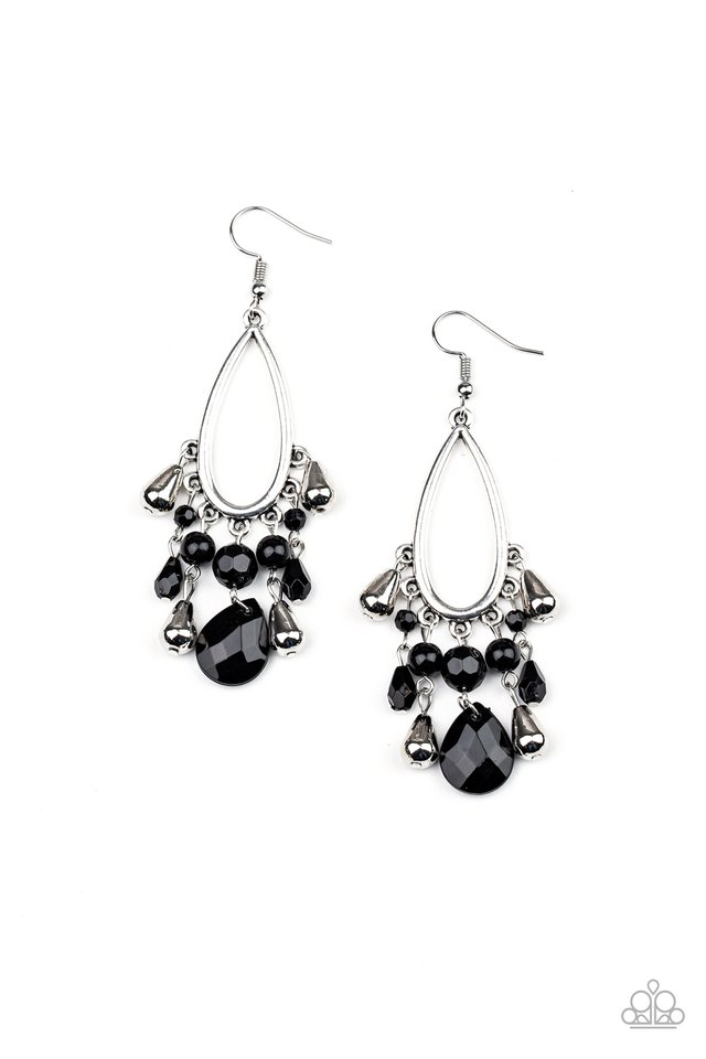 Summer Catch - Black - Paparazzi Earring Image