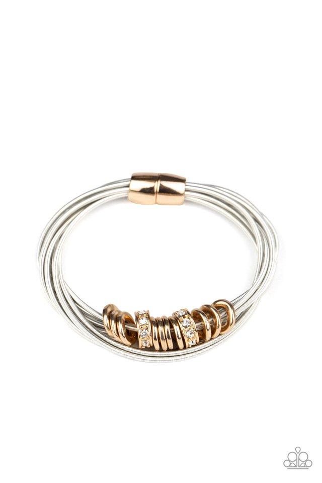Magnetically Metro - Gold - Paparazzi Bracelet Image