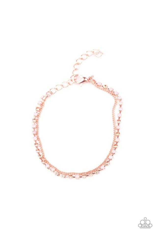 Double The Diamonds - Copper - Paparazzi Bracelet Image