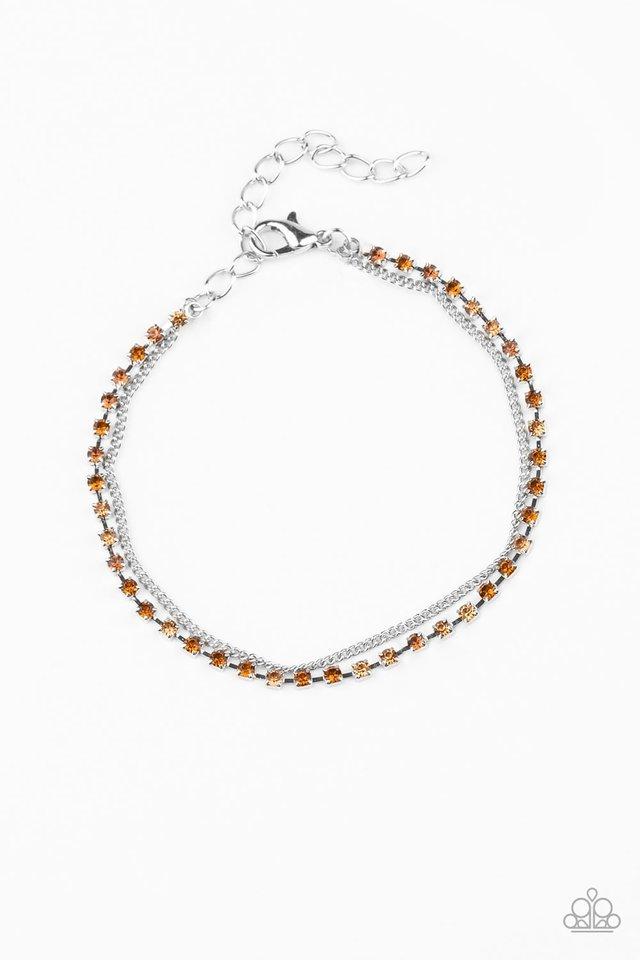 Double The Diamonds - Brown - Paparazzi Bracelet Image
