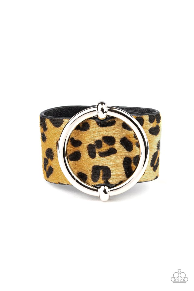 Asking FUR Trouble - Yellow - Paparazzi Bracelet Image