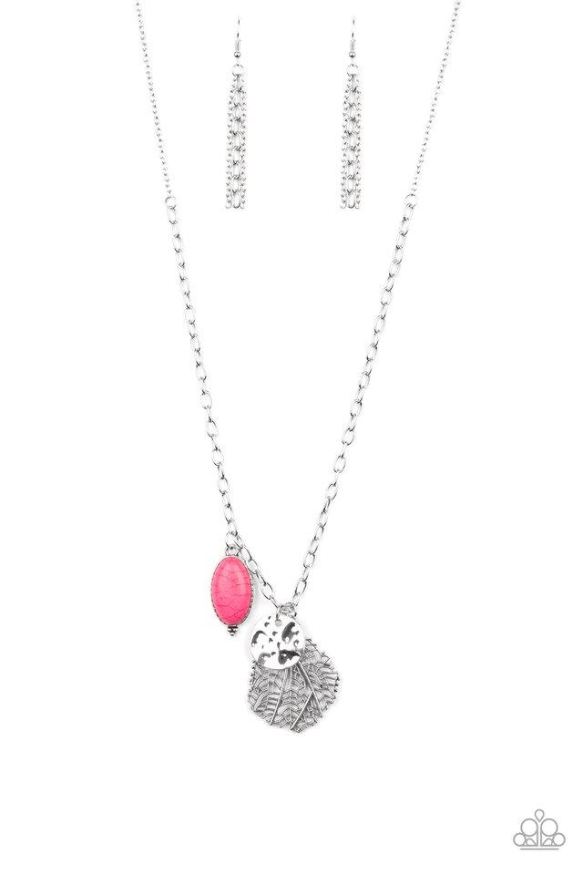 Free-Spirited Forager - Pink - Paparazzi Necklace Image