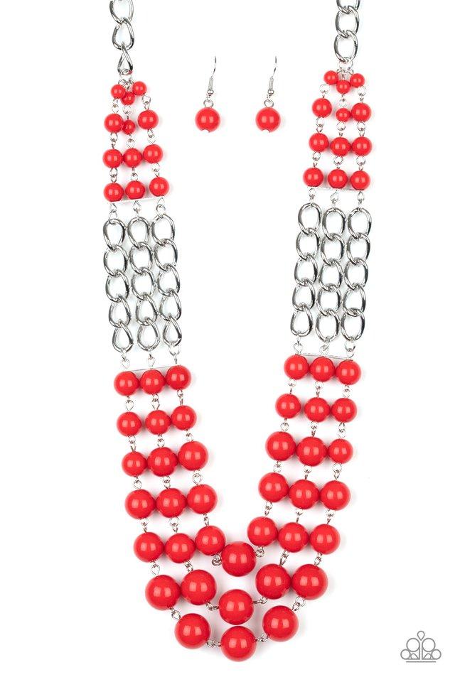 A La Vogue - Red - Paparazzi Necklace Image