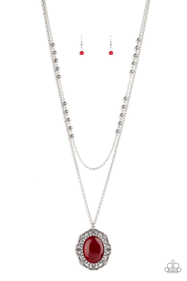 Endlessly Enchanted - Red - Paparazzi Necklace Image