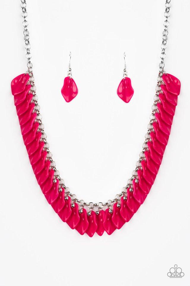 Super Bloom - Pink - Paparazzi Necklace Image