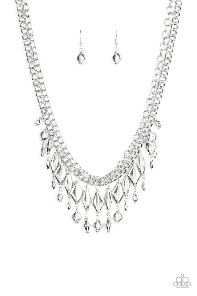 Trinket Trade - Silver - Paparazzi Necklace Image