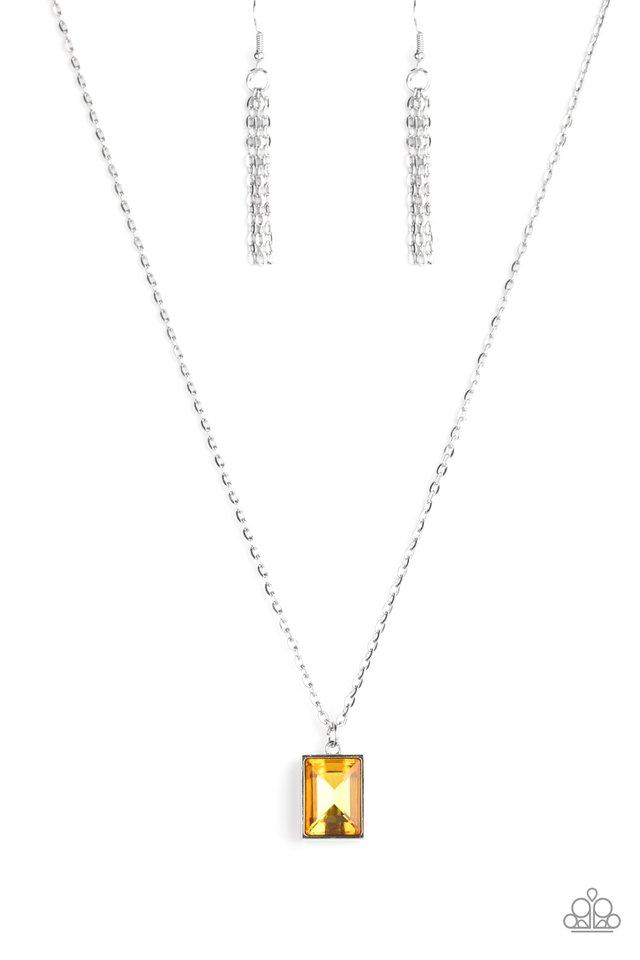 Pro Edge - Yellow - Paparazzi Necklace Image