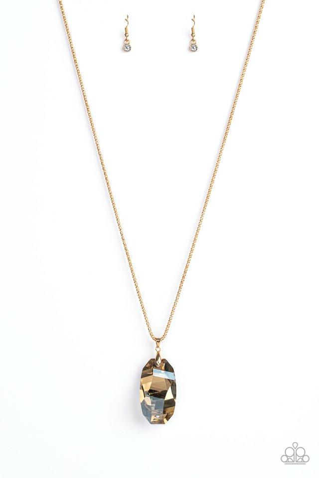 Gemstone Grandeur - Gold - Paparazzi Necklace Image