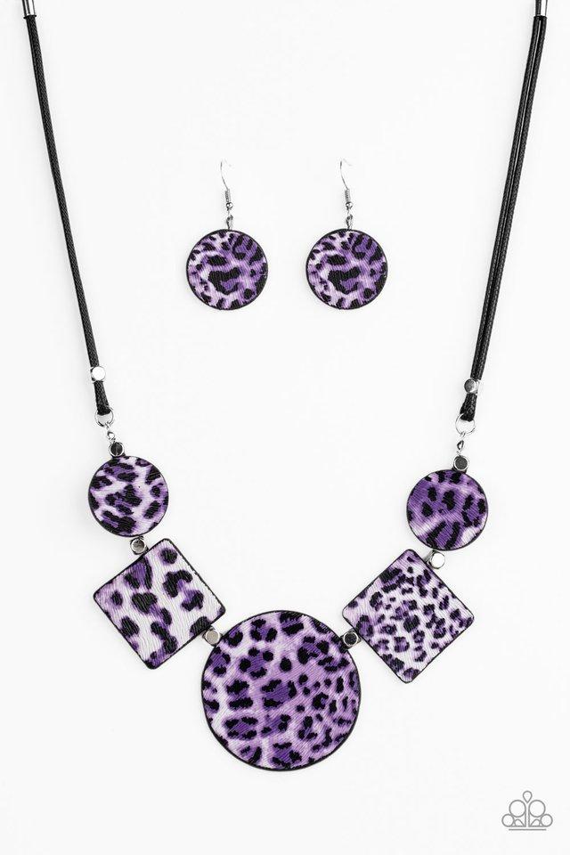 Here Kitty Kitty - Purple - Paparazzi Necklace Image