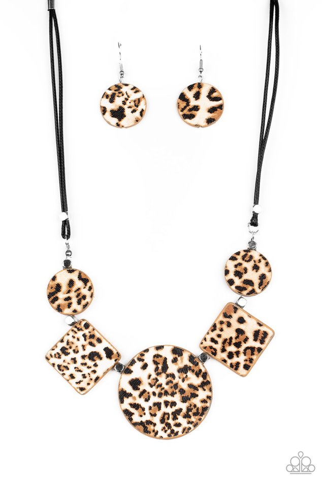 Here Kitty Kitty - Brown - Paparazzi Necklace Image