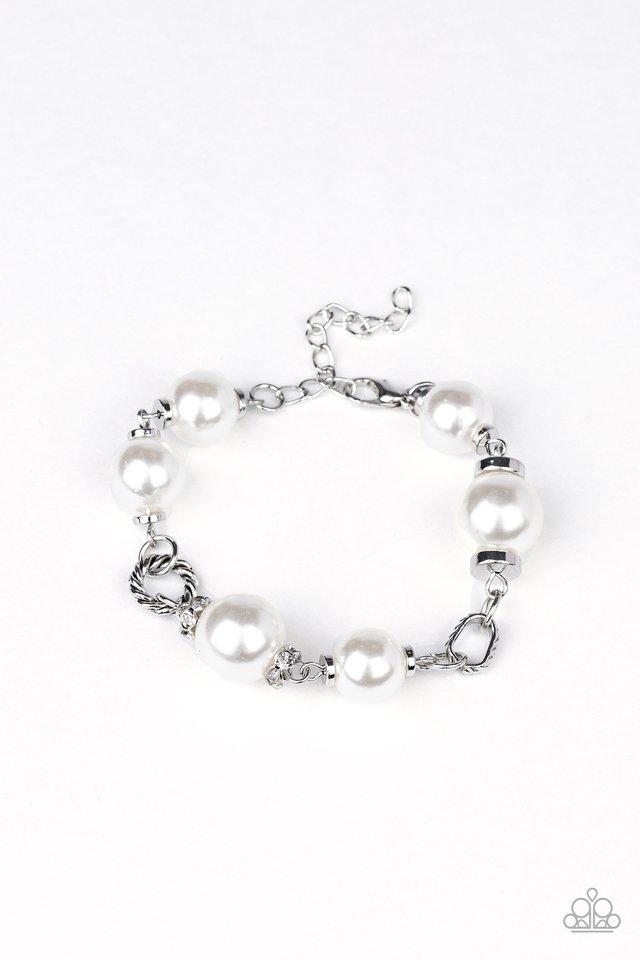 Boardroom Baller - White - Paparazzi Bracelet Image