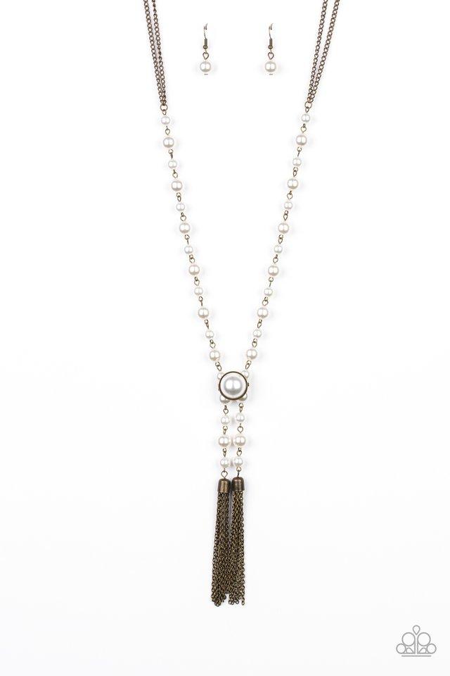 Vintage Diva - Brass - Paparazzi Necklace Image