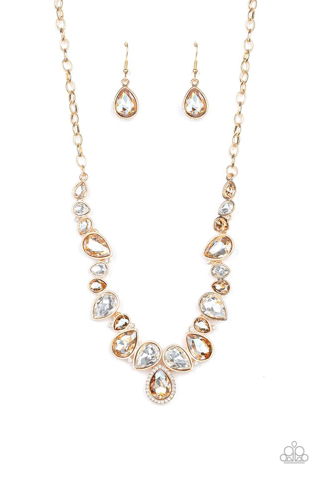 Dont Let The DIOR Hit You! - Gold - Paparazzi Necklace Image