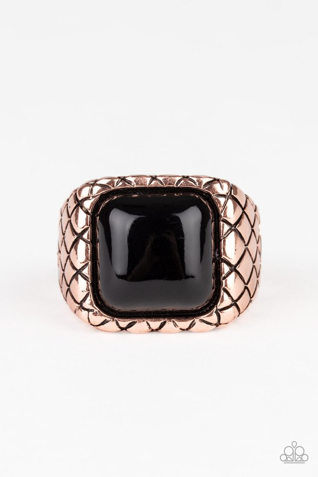 Dont Cross Me - Copper - Paparazzi Ring Image