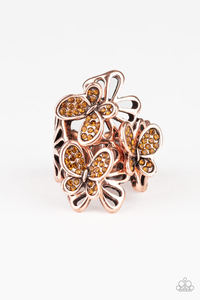 Flighty Flutter - Copper - Paparazzi Ring Image
