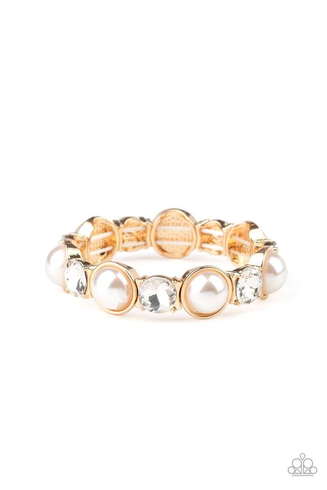 Elegant Entertainment - Gold - Paparazzi Bracelet Image