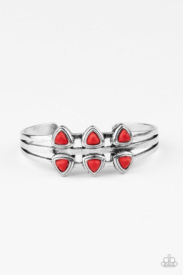 Tribal Triad - Red - Paparazzi Bracelet Image