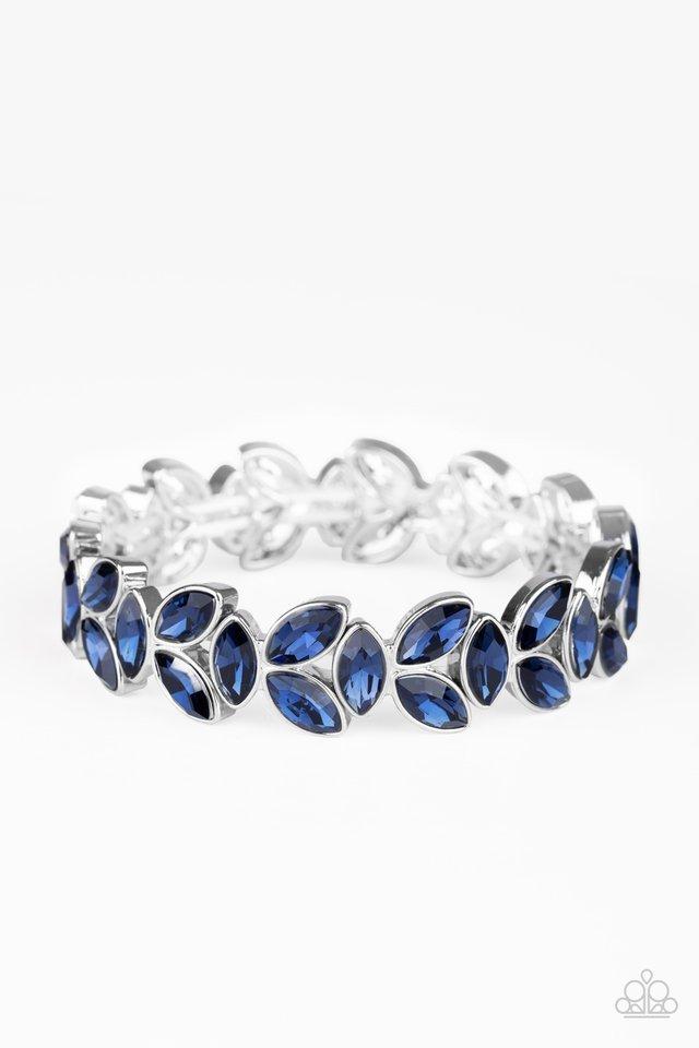 Gilded Gardens - Blue - Paparazzi Bracelet Image