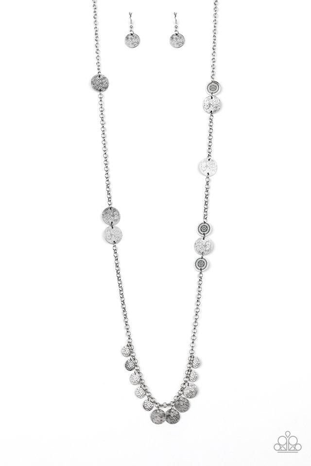Trailblazing Trinket - Silver - Paparazzi Necklace Image