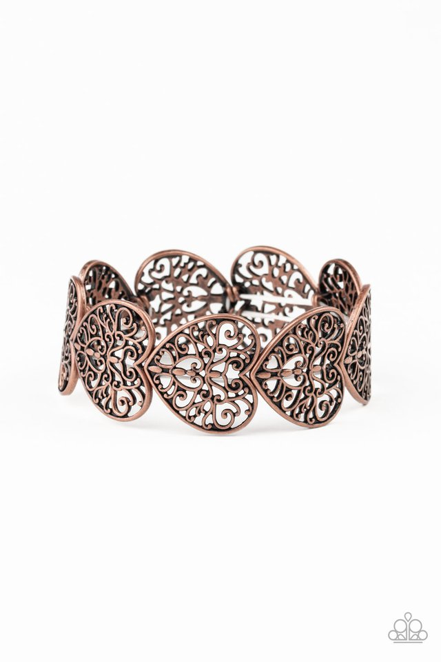 Keep Love In Your Heart - Copper - Paparazzi Bracelet Image