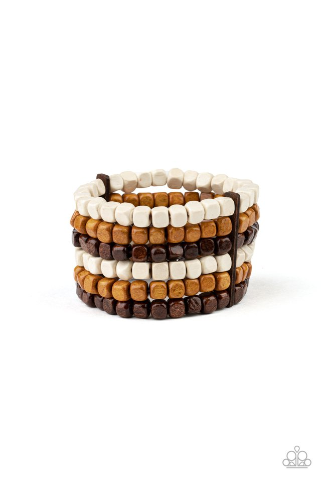 Tropical Tundra - Brown - Paparazzi Bracelet Image