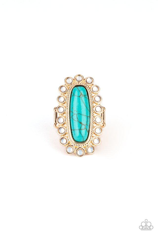 Mystic Oasis - Gold - Paparazzi Ring Image
