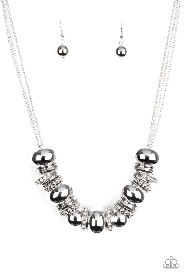 Only The Brave - White - Paparazzi Necklace Image