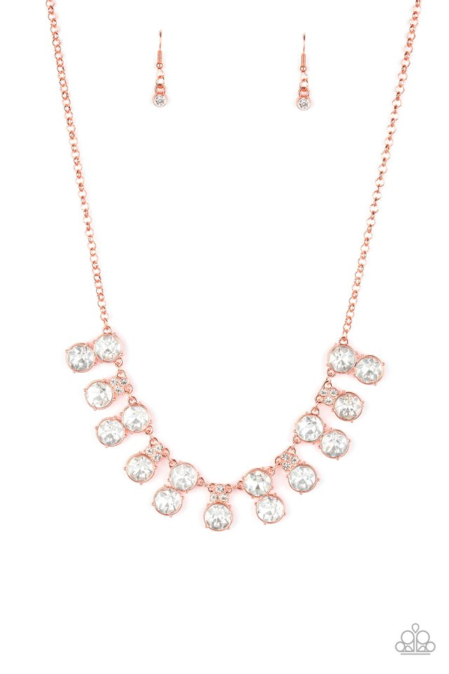 Top Dollar Twinkle - Copper - Paparazzi Necklace Image