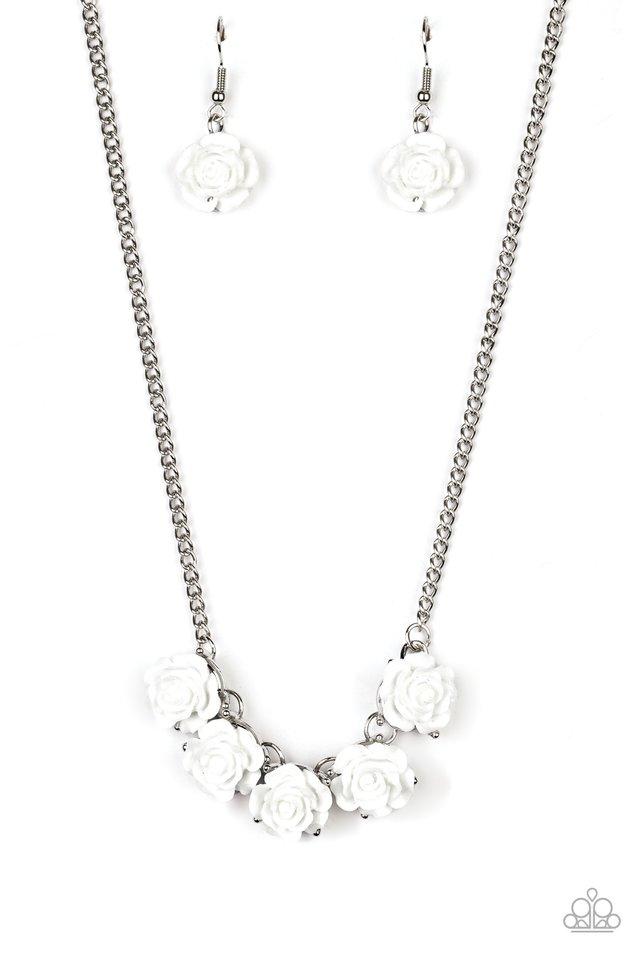 Garden Party Posh - White - Paparazzi Necklace Image