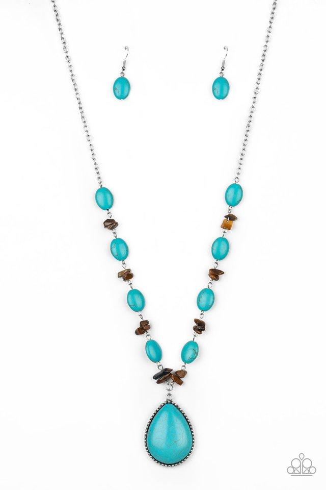 Desert Diva - Blue - Paparazzi Necklace Image