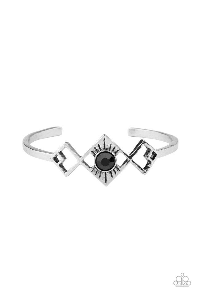 Dainty Deco - Black - Paparazzi Bracelet Image