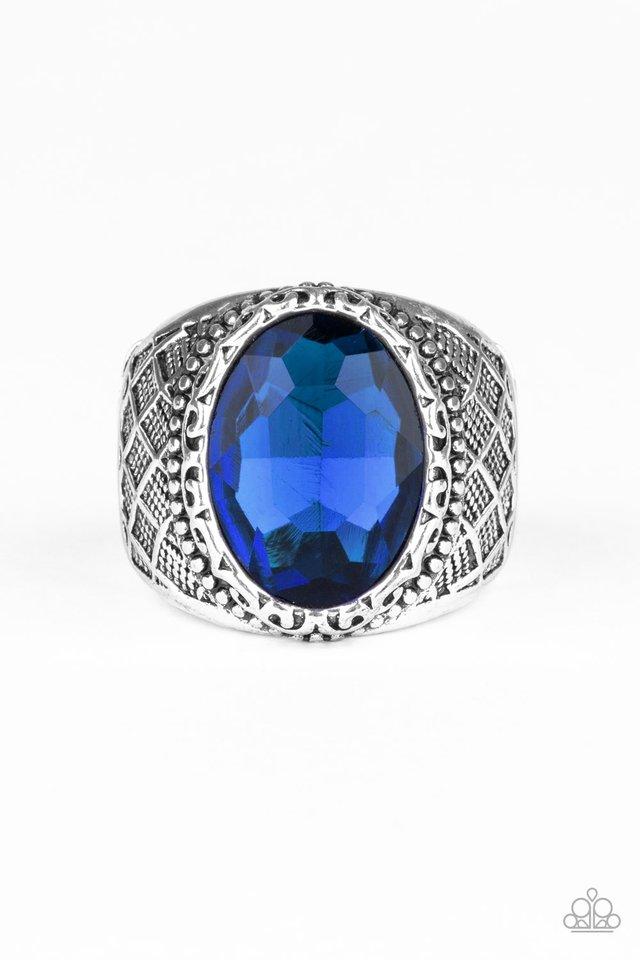 Pro Bowl - Blue - Paparazzi Ring Image