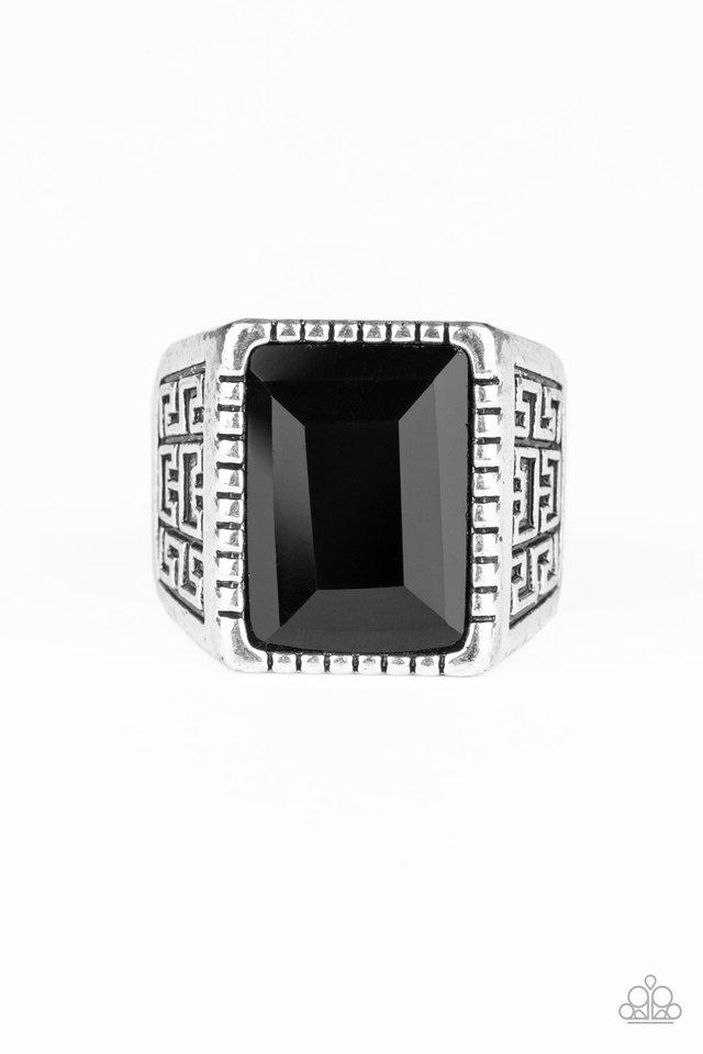 Winning Attitude - Black - Paparazzi Ring Image