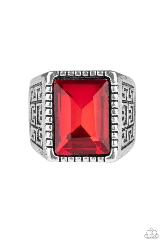 Winning Attitude - Red - Paparazzi Ring Image