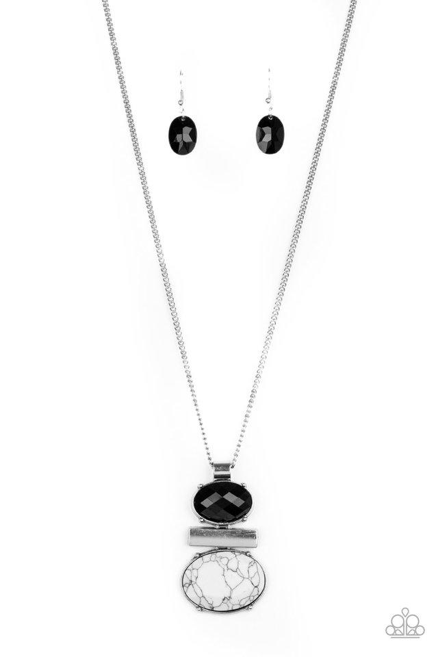 Finding Balance - Black - Paparazzi Necklace Image