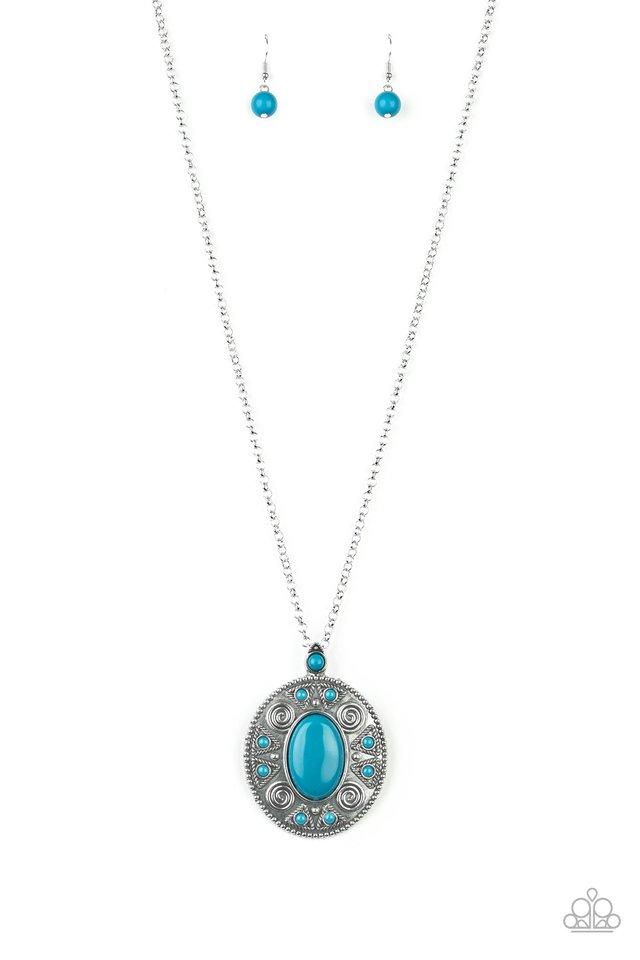 Sunset Sensation - Blue - Paparazzi Necklace Image