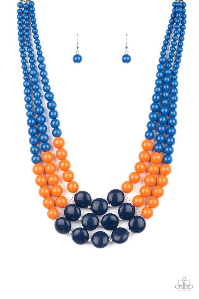 Beach Bauble - Blue - Paparazzi Necklace Image