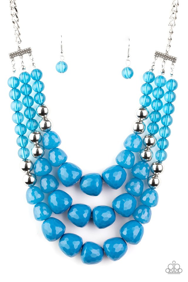 Forbidden Fruit - Blue - Paparazzi Necklace Image