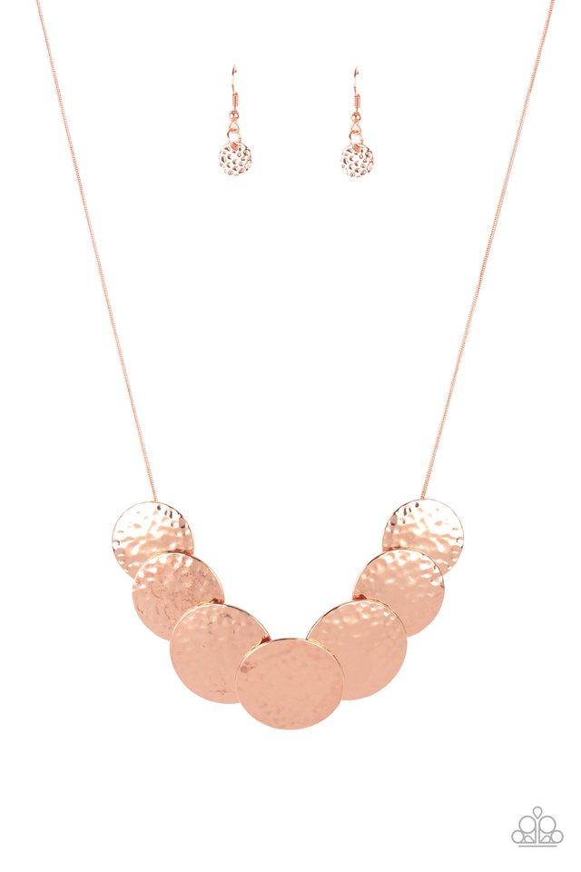 RADIAL Waves - Copper - Paparazzi Necklace Image