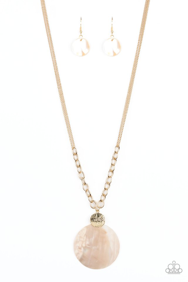 A Top-SHELLer - Gold - Paparazzi Necklace Image