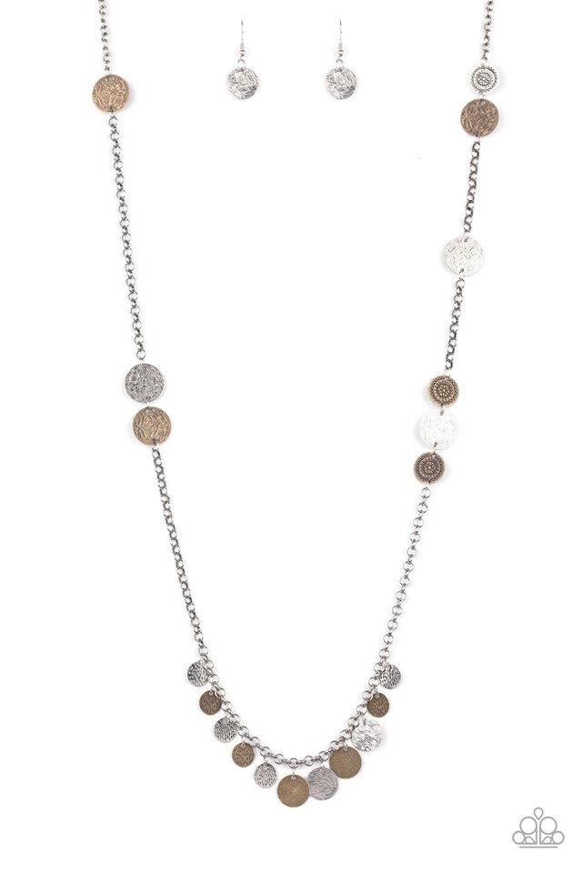 Trailblazing Trinket - Multi - Paparazzi Necklace Image
