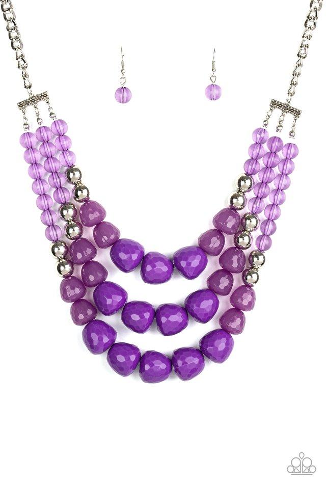 Forbidden Fruit - Purple - Paparazzi Necklace Image