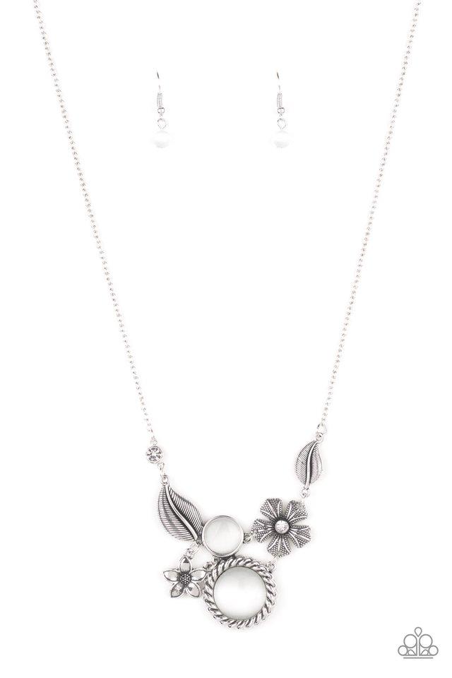 Exquisitely Eden - White - Paparazzi Necklace Image